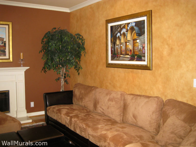 Faux Finished Walls in Living Room
