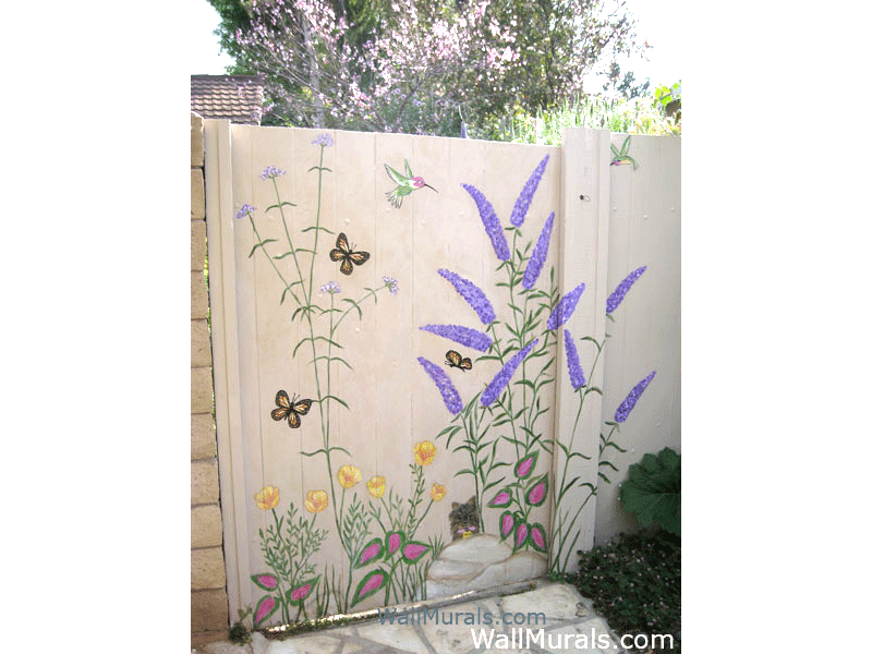 Wild Flowers and Butterflies Mural
