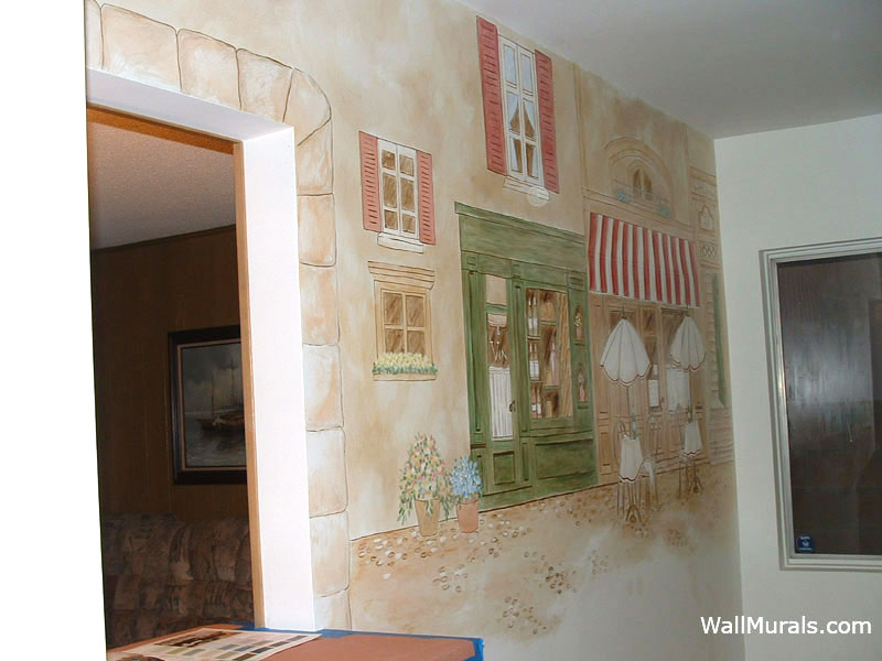 How To Paint A Wall Mural kitchen murals - hand-painted kitchen wall murals - borders
