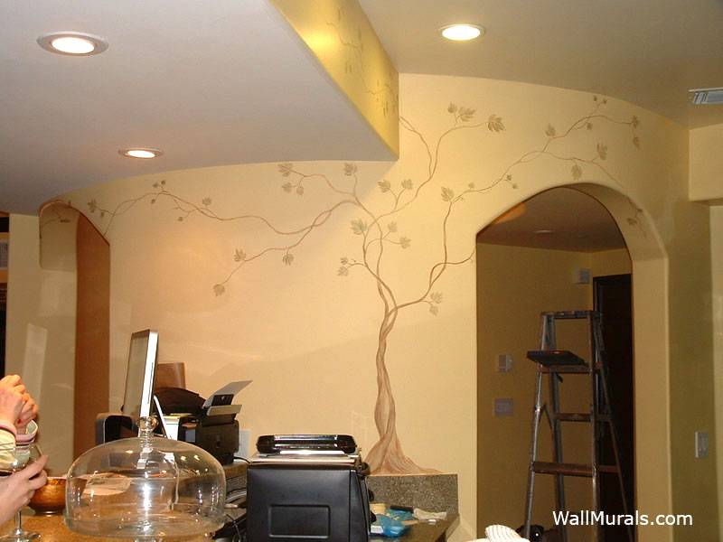 Tree Mural in Kitchen
