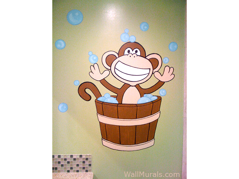 jungle wall murals examples of jungle theme murals monkey wall decals monkey wall stickers monkey wall