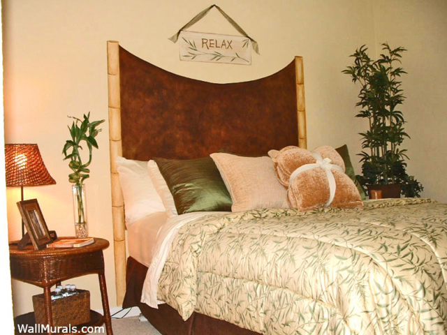 Faux Painted Headboard - Bamboo and Suede