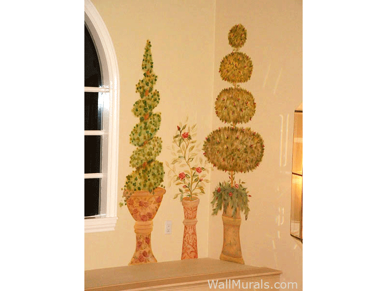 Examples of living room wall murals archway murals for Airbrushed mural