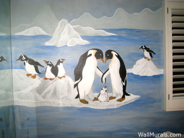 Penguin Wall Mural