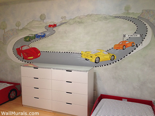Race Car Wall Mural