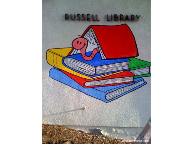 Wall Mural Painted on Exterior of Library