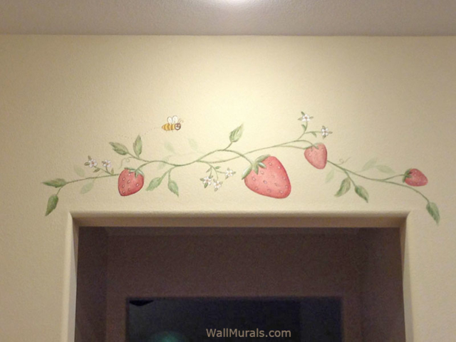 Painted Strawberries in Kitchen