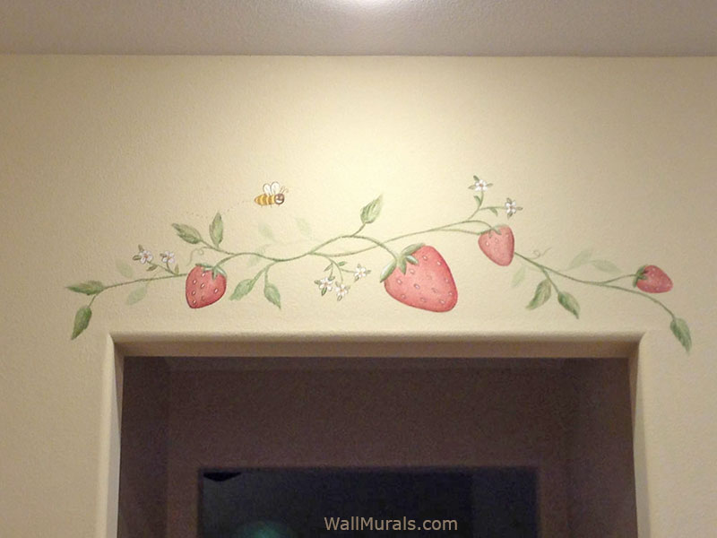 Kitchen Murals Hand Painted Kitchen Wall Murals Borders