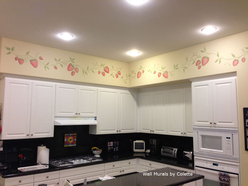 kitchen murals hand painted kitchen wall murals borders kitchen wall murals by colette kitchen murals kitchen