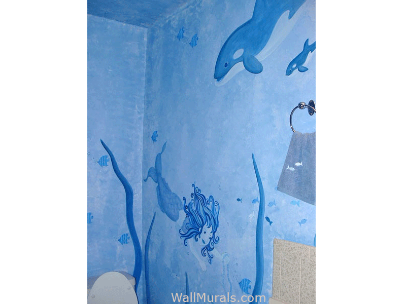 wall murals for bathrooms home design