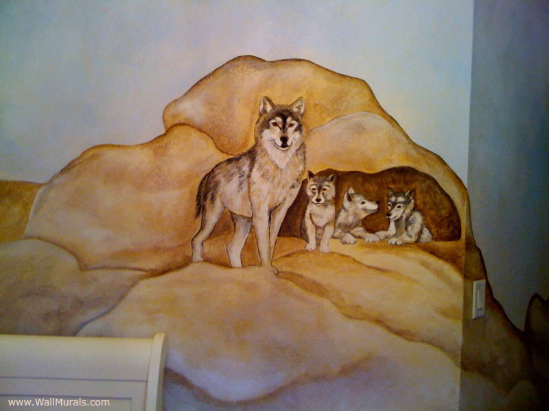 Nature wall murals and animal wall mural examples for Animal wall mural