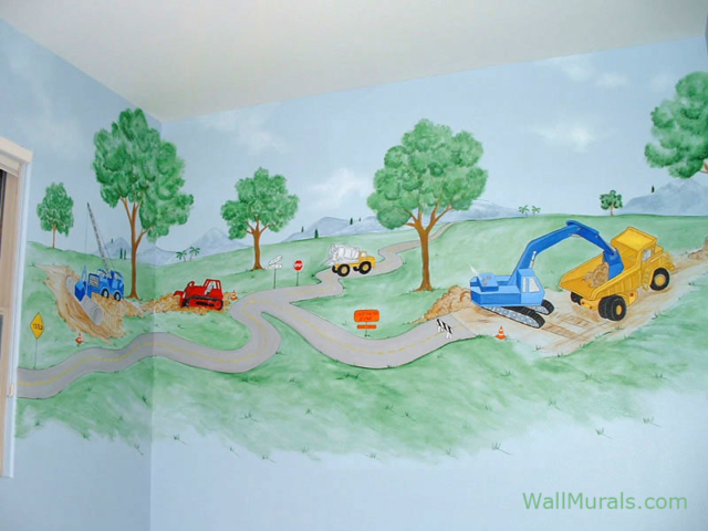 Construction Site Wall Mural