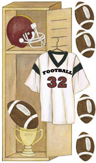 Football Locker Wall Decals