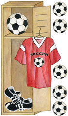 Soccer Locker Wall Decals