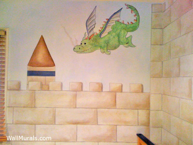 Dragon Wall Mural in Boys Bedroom