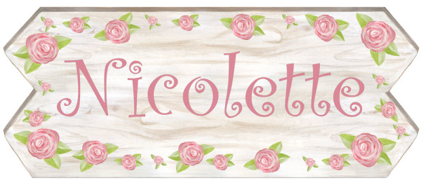 MEDIUM Rose Sign (18x8)