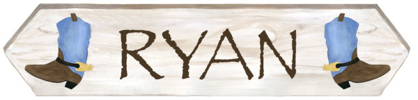 SMALL Western Sign (18x4.5)