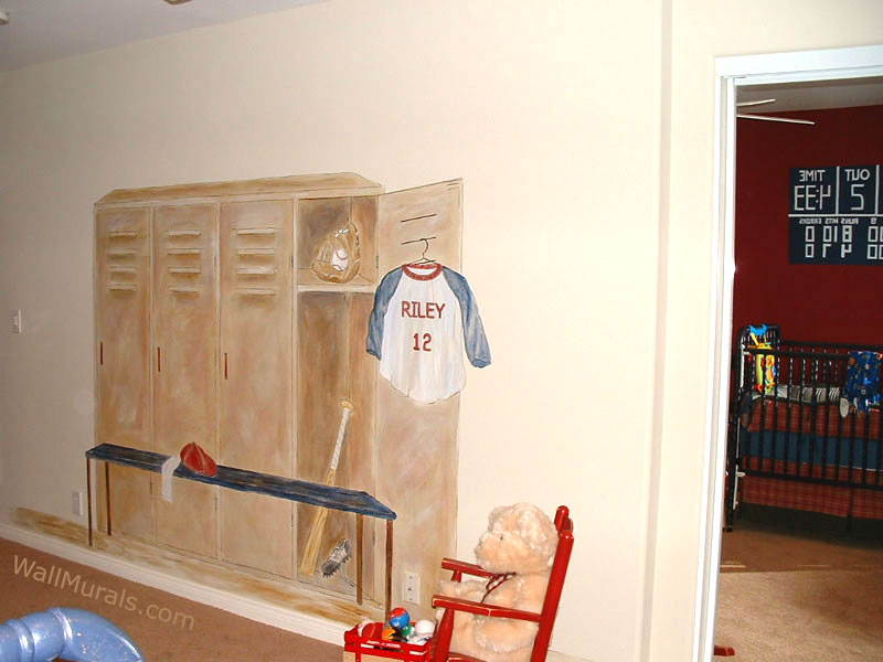 Sports Locker Wall Mural