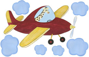 Captain Stretch - Red Airplane - Decal Sheet