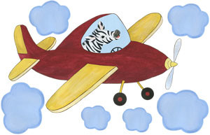 Captain Stripes - Red Airplane - Decal Sheet