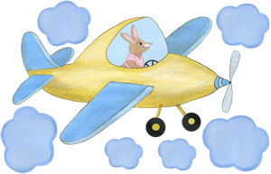 Sky Hopper - Yellow Airplane - Decal Sheet