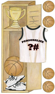 Personalized Basketball Locker Wall Decals
