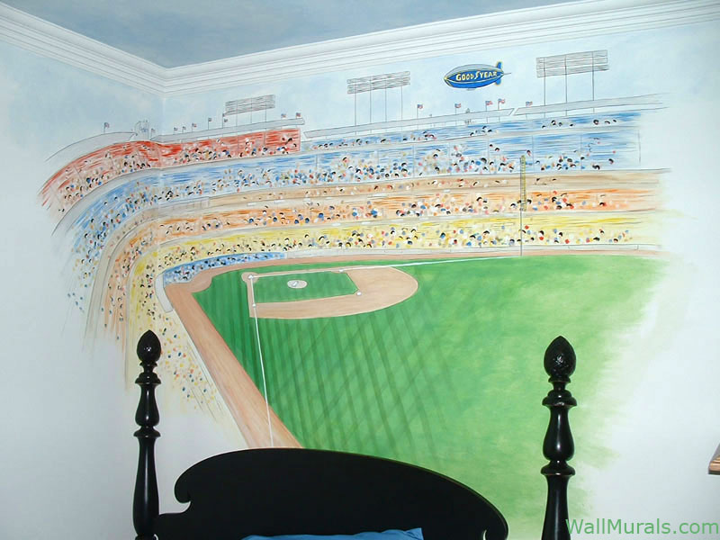Baseball Wall Mural Boys Bedroom Murals