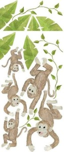 5 Little Monkeys - Wall Decals