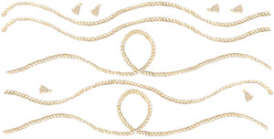 5 Piece Rope - Wall Decal Sheet