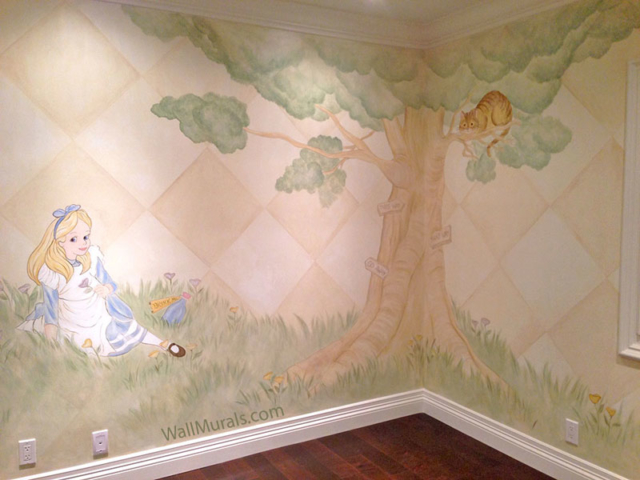 Vintage Alice in Wonderland Wall Mural