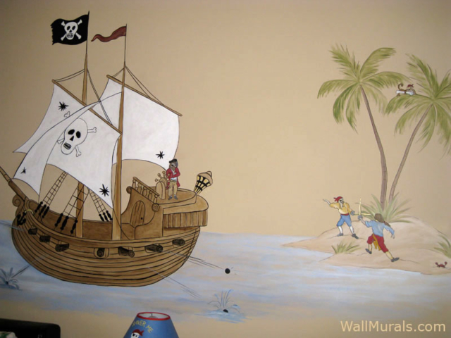 Pirate Wall Mural - Boys Bedroom