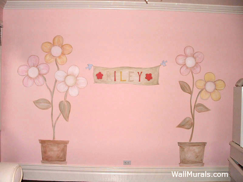 Vintage Daisy Wall Mural