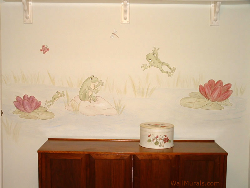 Frog Mural with Lily Pads
