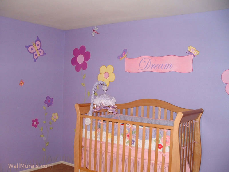 Baby room wall murals nursery wall murals for baby boys for Daisy fuentes wall mural