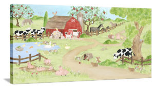 Barnyard Fun - Canvas Art - No Sign