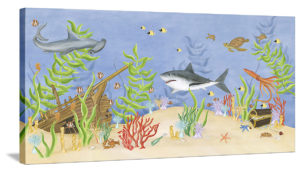 Shark Adventure - Canvas Wall Art