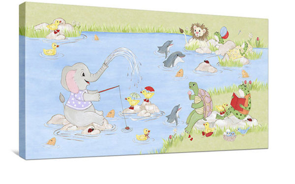 Water Play - Canvas Wall Art