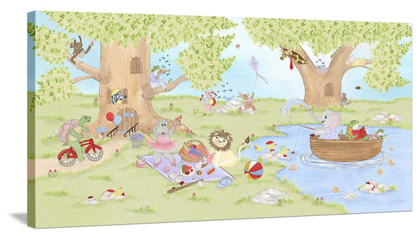 Animal Picnic - Canvas Wall Art
