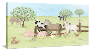 Farm Animal Friends - Canvas Wall Art