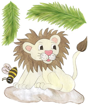Baby Lion Decals