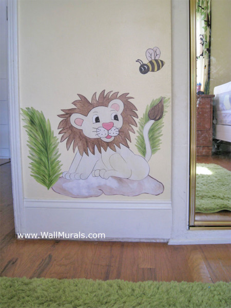 Baby Lion Wall Decals - Installed
