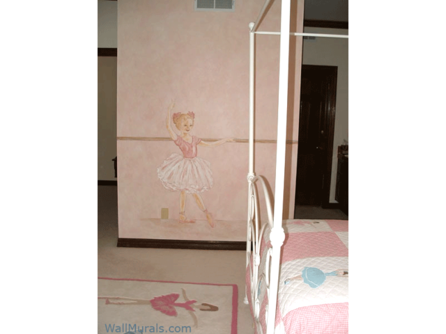 Ballet Wall Mural in Girls Bedroom