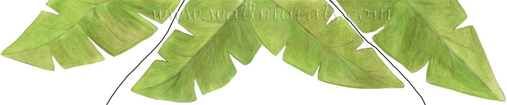Banana Leaf Wall Decals Leaf Border