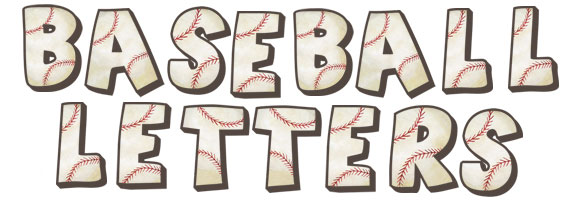 Baseball Letter Wall Decals