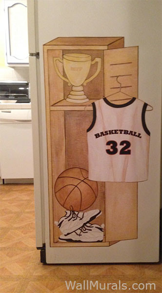 Basketball Locker Decals - Installed