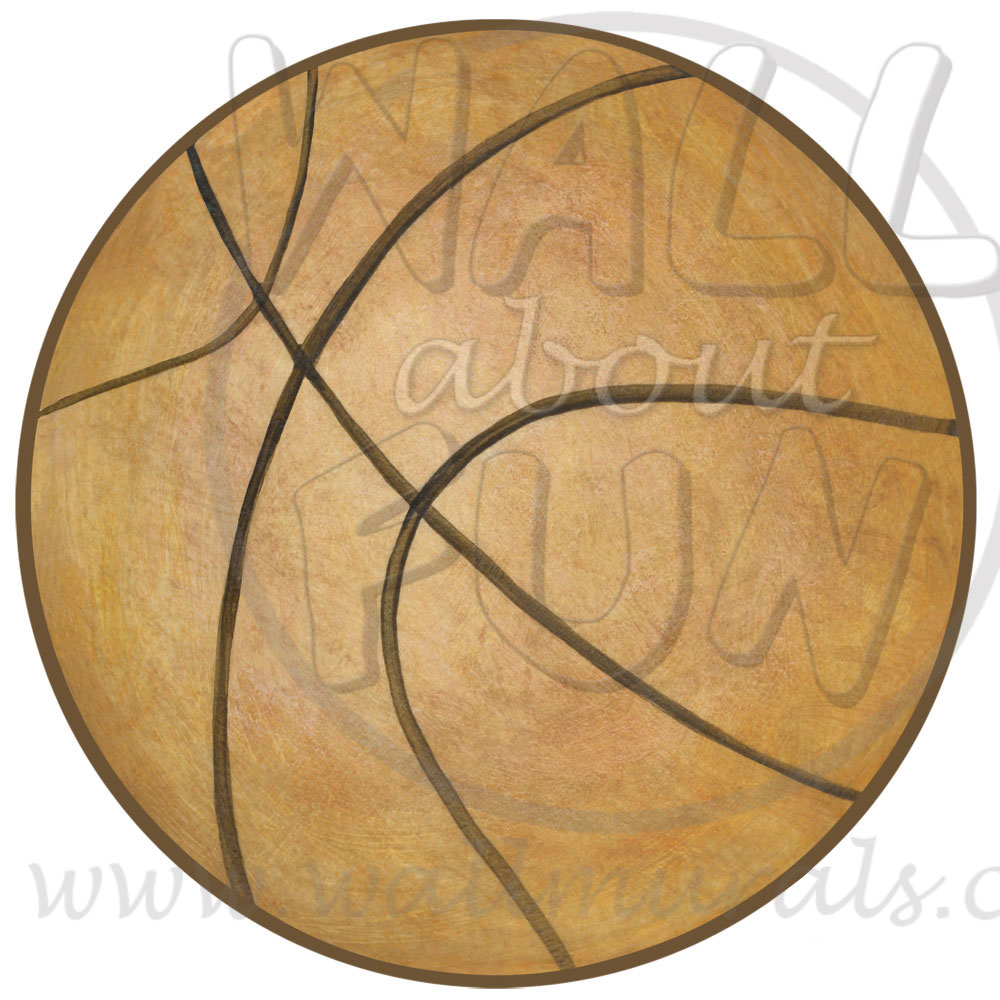 Basketball wall decals for Basketball mural wallpaper