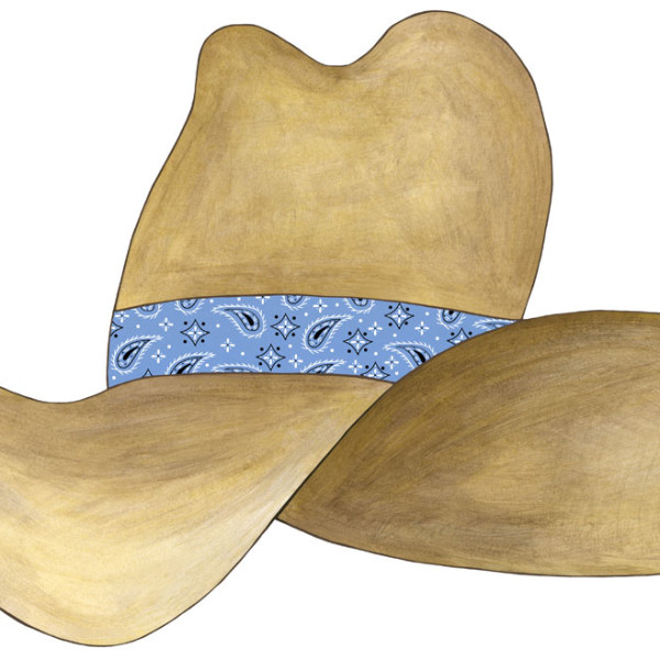 Cowboy Hat Denim Bandana
