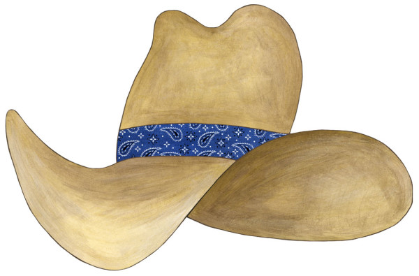 Cowboy Hat Decal - Navy Blue Bandana