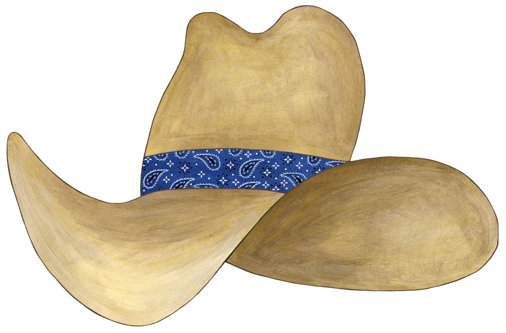 Cowboy Hat Border Cowboy Hat Decals