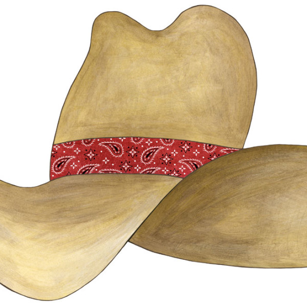 Cowboy Hat Red Bandana